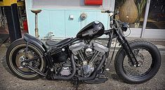 Junk Twinkie built by Junk Ride of Japan - Image 31508 Softail Bobber, Bobber Bikes, Harley Bobber, Bobber Chopper, Harley Davidson Frames, Harley Davidson Motor, Badass Motorcycle Helmets, Bobber Motorcycle, Custom Harleys