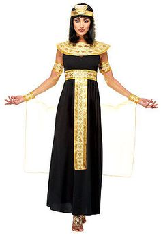BLACK ADULT WOMEN LADY CLEOPATRA EGYPTIAN QUEEN OF THE NILE COSTUMES 48459