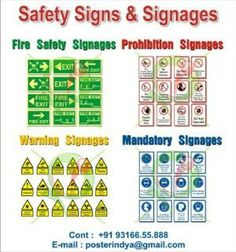 Safety Signages Posters $10