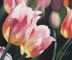Two+Tulips,+painting+by+artist+Jacqueline+Gnott