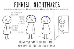 10 Introvert Problems Depicted in the Hilarious Comic Series Finnish Nightmares | via @learningmindcom | learning-mind.com