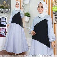Pusat Grosir Baju Wanita | Baju Gamis Modern LGK2121A Batam, Jakarta, Muslim, Dan, Surabaya, Model, Black, Dresses, Fashion
