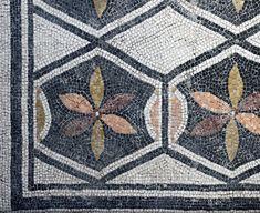 Ornamental pattern. Floor mosaic in so-called Domus of Dionysus. 2nd century A.D. Brescia, Santa Giulia Civic Museum.