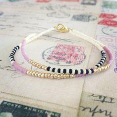 Starling Designs by WanderlustTrade - Tribal Seed Bead Bracelet - Seed Bead Bracelets, Seed Bead Jewelry, Bead Jewellery, Cute Jewelry, Jewelry Crafts, Beaded Jewelry, Jewelery, Jewelry Bracelets, Pandora Bracelets