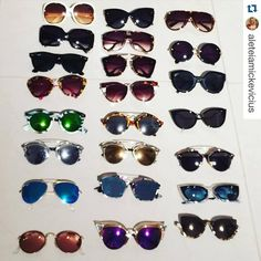 Quem também adora óculos e faz coleção como nossa cliente @aleteiamickevicius ? #clientewanny #Repost @aleteiamickevicius with @repostapp. ・・・ Vai um óculos aí?! Ahahahaha    #vicio #acumuladores Ahahahaha! #mysunnies #collector #addict   #dior #Illesteva #fendi #prada #illesteva #miumiu #rayban