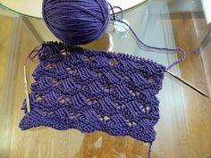 Indian cross stitch shawl