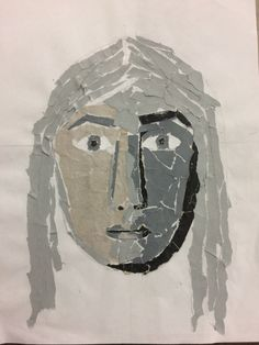 Collage faces for the Y9 Clay Pot Project. St Marys Catholic High School.
