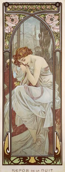 Alphonse Mucha - The Times of the Day: Night''s Rest