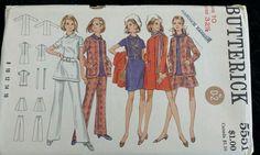Vintage 1960s Sewing Pattern Butterick 5551 Complete Wardrobe Size 10 B32.5 U/C