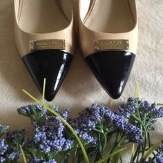 "NWOT Coach Two Tone Kitten Heels Coach pumps. 2"" heel. Worn around house, but never outside. Unfortunately they're a half size too small for me. NO TRADES Coach Shoes Heels"