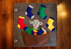 Harry Potter Quiet Book pages - Dobby Sock Matching page by Today I Felt Crafty.