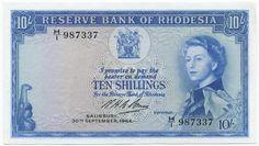 10 Shillings 1964 (Elizabeth II) Rhodesien - Zimbabwe Britische Kronkolonie (Südrhodesien)
