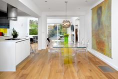 Erskine - contemporary - Dining Room - Toronto - Upside Development what if did boys on either side of FP/TV is large scale like this abstract???