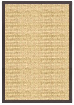 Sustainable Lifestyles Sand Sisal Rug with Canvas Black Border