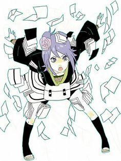 Konan sucha strong female ninja. #Naruto #Konan