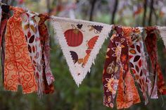 Fall Autumn Thanksgiving Burlap Banner by SewSoapy on Etsy, $20.00