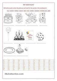 Resultado de imagen para party vocabulary worksheet