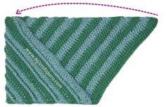 Cómo tejer un gorro odessa en dos colores a crochet