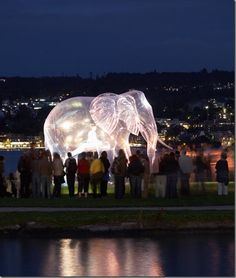 Giant Bubble Look Illuminate sculptures by victorine müller