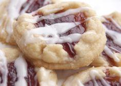 Raspberry Almond Thumbprint Cookies
