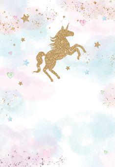 U and Unicorns - Birthday Invitation Template free Greetings Island Party Unicorn, Unicorn Themed Birthday, Unicorn Birthday Invitations, Unicorn Art, Birthday Invitation Templates, Rainbow Unicorn, Party Invitations, Birthday Template, Free Birthday