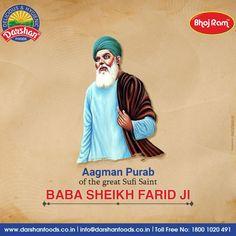 Aagman Purab of the great Sufi Saint Baba Sheikh Farid Ji. #babafarid #sufism #karbala #shayri #hussain #sufi #shayari #purab #greatsufi #saintbabasheikhfarid #babasheikhfarid #punjab #darshanfoods Sufi Saints, Tea Snacks, Baseball Cards, Movie Posters, Movies, Free, Films, Film Poster, Cinema