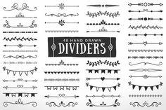 Hand Drawn Dividers Borders by AzmariDigitals on Creative Market