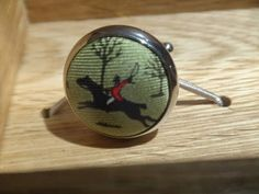 D&H: Look what is in the D&H showcases!  Bird Dog Bay Fox hunting Cufflink