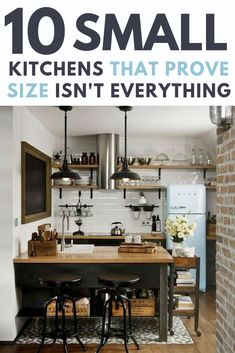 10 small kitchens that prove size isn't everything. Small kitchens can be practical, functional, and beautiful. Kitchen 10 Small Kitchen Ideas That Prove Size Doesn't Always Matter Industrial Farmhouse Decor, Industrial Kitchen Design, Vintage Industrial Decor, Industrial Living, Industrial Office, Industrial Interiors, Modern Industrial, Diy Kitchen, Kitchen Decor
