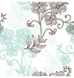 Seamless pattern nature floral vector by Chantall on VectorStock®
