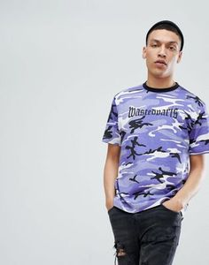 Wasted Paris London T-Shirt In Purple Camo