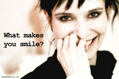 Today's Blog Post: I want to know what makes YOU smile.  Click link to post & comment away!!! :-)
