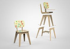 Flat Pack Children Chair Concept on Behance