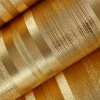 Free shipping Paper ceiling gold foil wallpaper, modern brief solid color vertical stripe ktv wall paper,wallpapers of walls