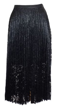 NEW Free People Womens Skirt Pretty Pleats Lace Maxi Sheer Black Sz 2 NWT $168 #FreePeople #ALine