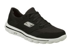 Skechers SK53592 Mens GOwalk 2 - Stance Lace Up Trainer Shoe - Robin Elt Shoes  http://www.robineltshoes.co.uk/store/search/brand/Skechers-Mens/