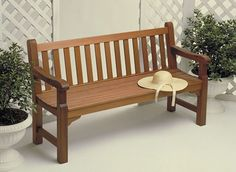 Build this classic English Garden Bench from Woodsmith Plans! It will make a beautiful accent for your garden or deck.