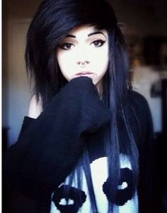I want to dye my hair like this, except with a red tint at the bottom instead of blue.