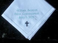 First communion gift boy communion memento by MakeItMineEmbroider