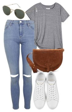 """""""Untitled #5269"""" by rachellouisewilliamson on Polyvore featuring Topshop, Maiyet and Yves Saint Laurent"""