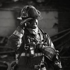 Detroit fire fighter...Heroes that we support with every purchase of Hero Energy Shot.