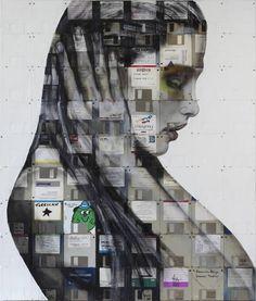 Arte com disquetes