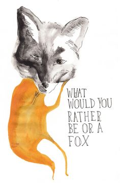 What would you rather be or a Fox  http://www.victoriaverbaan.com