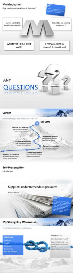 Attractive #PowerPoint templates for your personal #self-presentation.