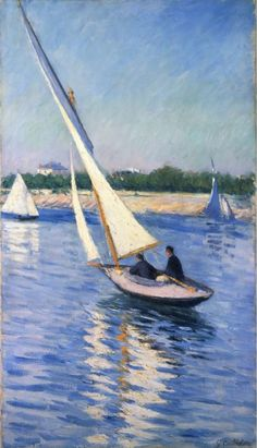 Gustave Caillebotte, Sailboats on the Seine at Argenteuil, 1893