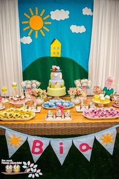 Peppa Pig themed birthday party with Lots of Really Cute Ideas via Kara's Party Ideas