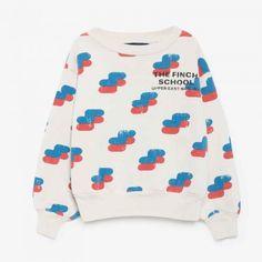 The Animals Observatory - Bear Kids Sweatshirt (Raw White Finch School Red)…