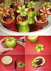 Diy Projects: DIY Fruit Cup and Apple Flower