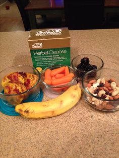 Breakfast, snacks, and lunch during our 10-day cleanse #advocare #24daychallenge homemade egg muffins, homemade trail mix