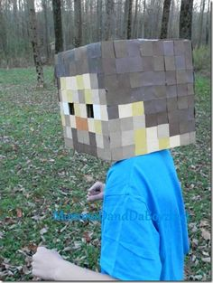 DIY Minecraft Steve Costume